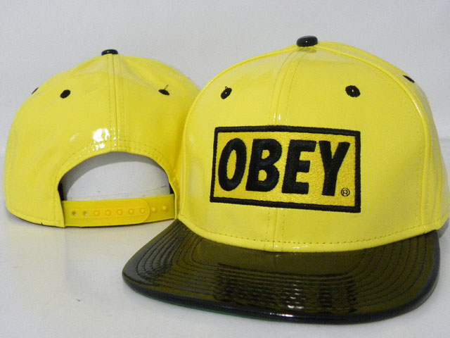 OBEY Snapback leather Hat DD12