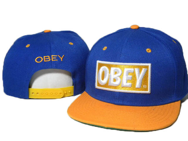 Obey Blue Snapback Hat DD 1