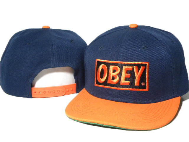 Obey Blue Snapback Hat DD