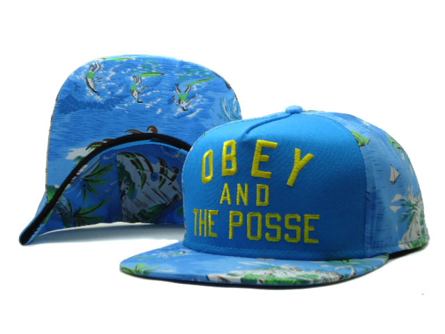 Obey Blue Snapbacks Hat SF