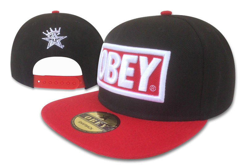 Obey Black Snapback Hat GF 1