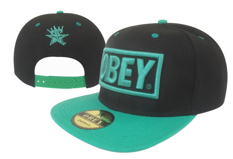 Obey Black Snapback Hat GF 2