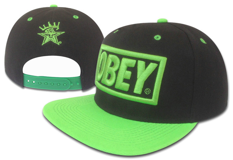 Obey Black Snapback Hat GF 3