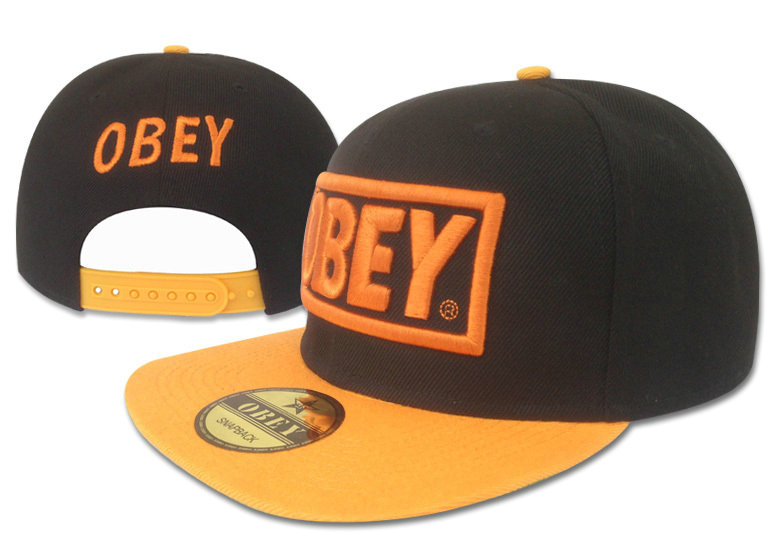 Obey Black Snapback Hat GF 4