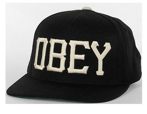 Obey Black Snapback Hat GF 5