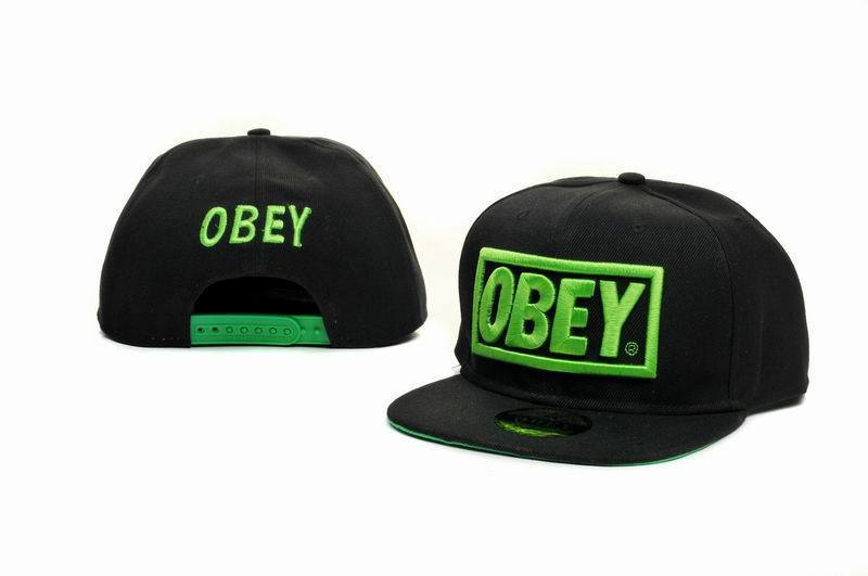 Obey Black Snapback Hat GF 6