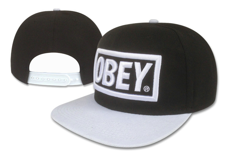 Obey Black Snapback Hat GF