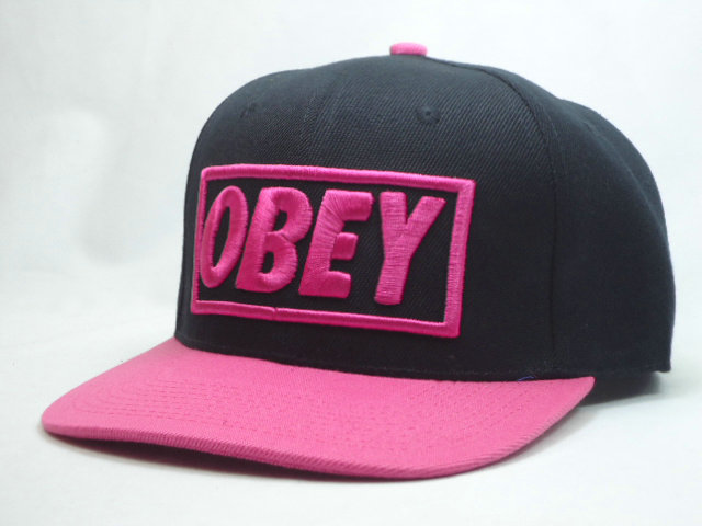 Obey Black Snapback Hat SF