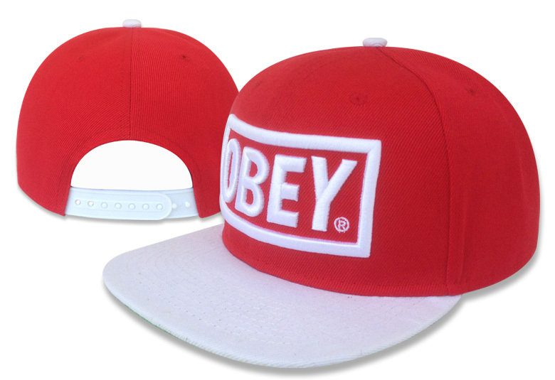 Obey Red Snapback Hat GF 1