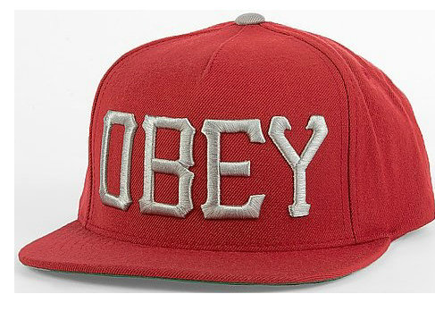 Obey Red Snapback Hat GF 2