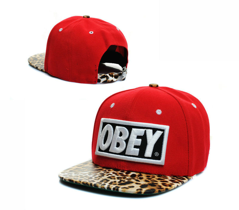 Obey Red Snapback Hat GF