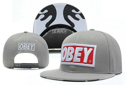 Obey Snapback Hat X-DF Grey