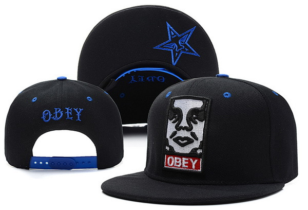 OBEY Black Snapback Hat XDF