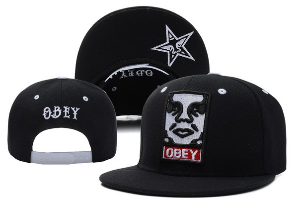 Obey Black Snapbacks Hat XDF 1