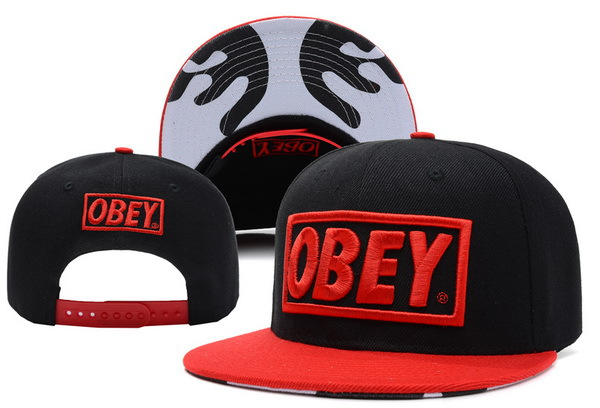 Obey Black Snapbacks Hat XDF