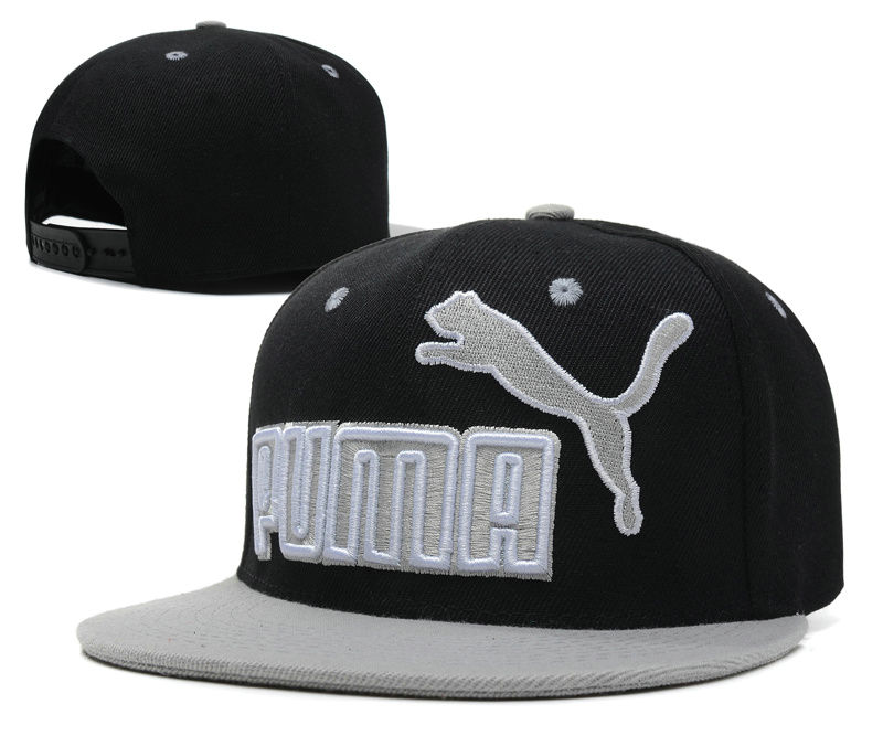 PUMA Black Snapback Hat SD 1