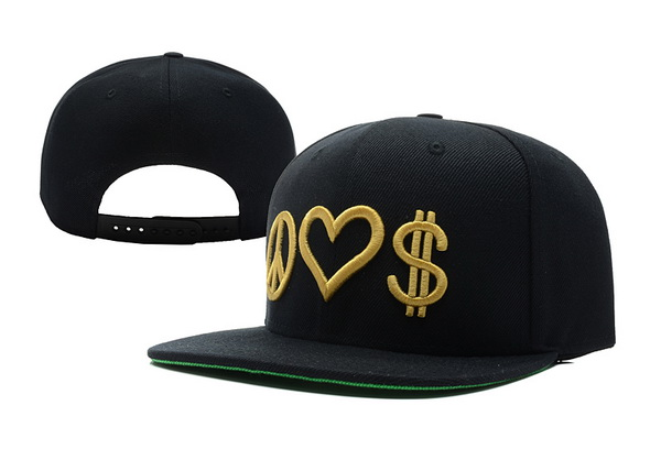 Peace Love Money Snapbacks Hat XDF 1