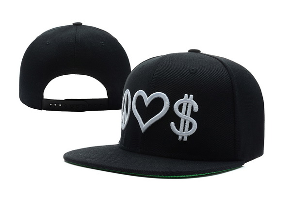Peace Love Money Snapbacks Hat XDF 2