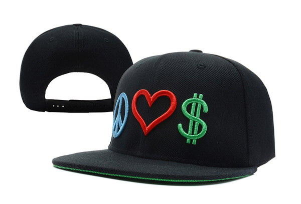 Peace Love Money Snapbacks Hat XDF 3