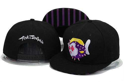 Pink Dolphin Black Snapbacks Hat YS 0606
