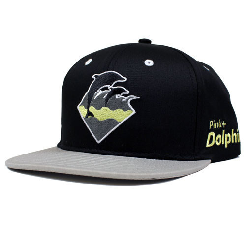 Pink Dolphin Black Snapbacks Hat GF