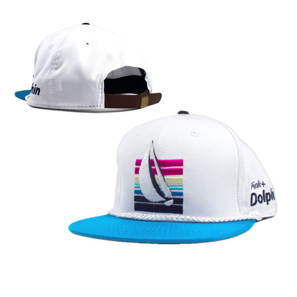 Pink Dolphin White Snapbacks Hat GF