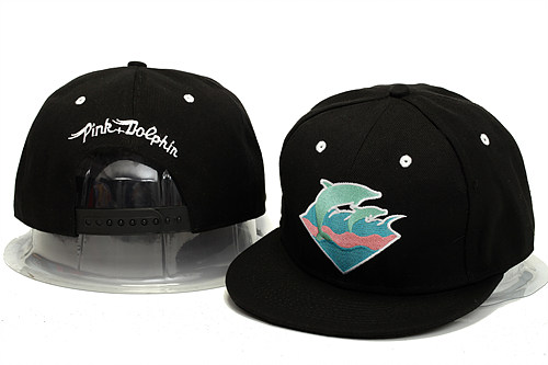 Pink Dolphin Black Snapback Hat YS 0613