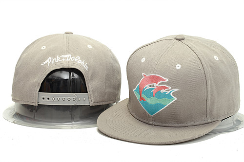Pink Dolphin Grey Snapback Hat YS 0613