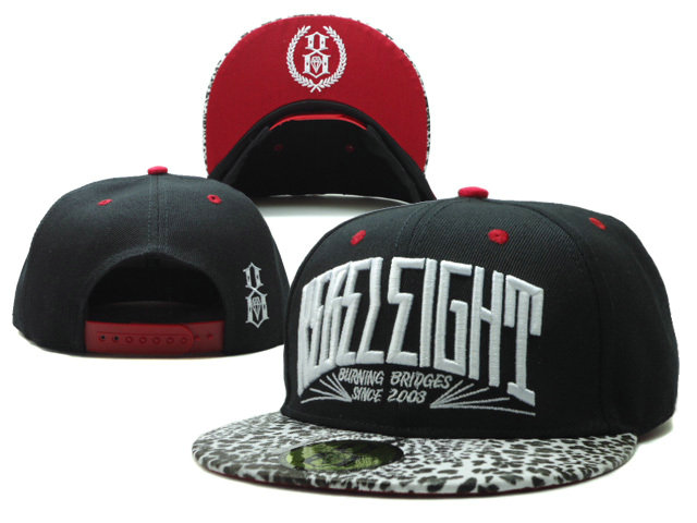 Rebel8 Black Snapback Hat SF 0701