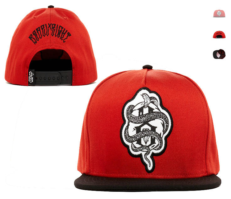 Rebel8 Red Snapback Hat LS