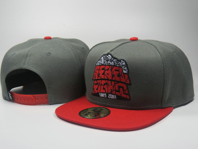 Rebel8 Grey Snapback Hat LS 1