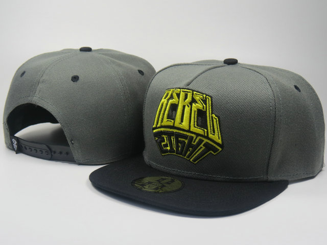 Rebel8 Grey Snapback Hat LS