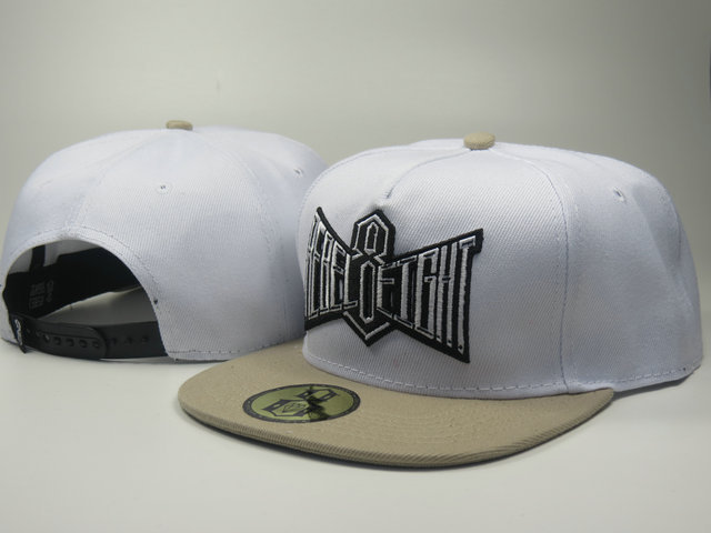 Rebel8 White Snapback Hat LS
