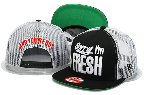 Sorry I am Fresh Mesh Snapbacks Hat YS 0606