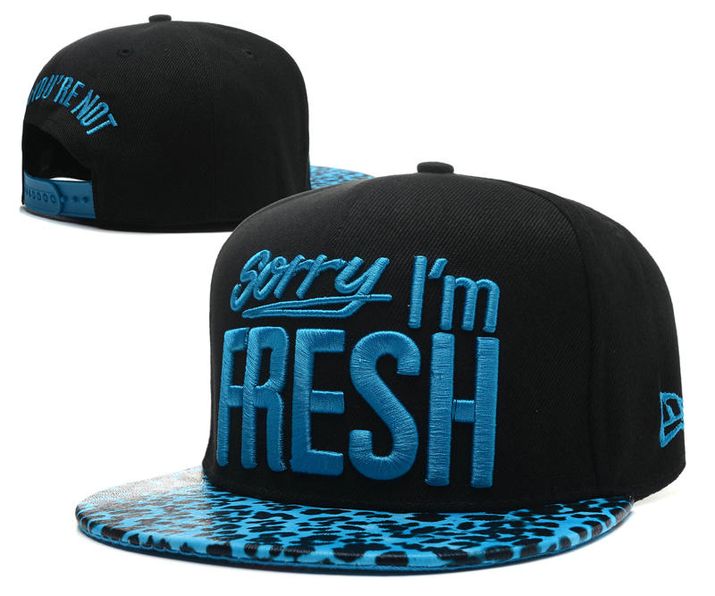 Sorry I am Fresh Black Snapbacks Hat SD 1 0701