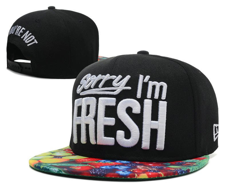 Sorry I am Fresh Black Snapbacks Hat SD 2 0701