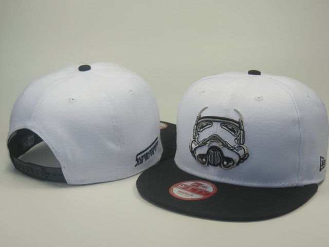 Star Wars White Snapback Hat LS 0613