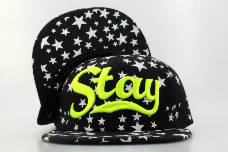 Stay Black Snapback Hat QH 0701
