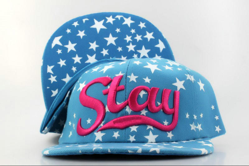 Stay Blue Snapback Hat QH 1 0701