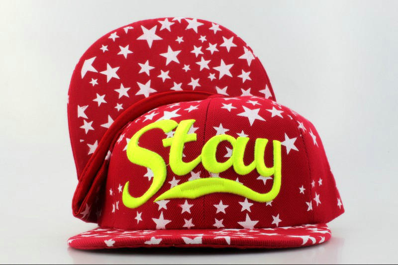 Stay Red Snapback Hat QH 0701