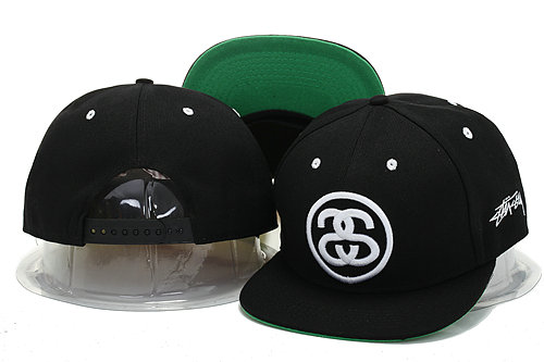 Stussy Black Snapbacks Hat YS 0721