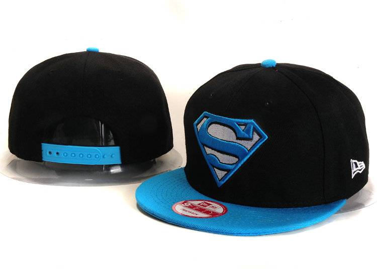 Super Man Black Snapback Hat YS 1