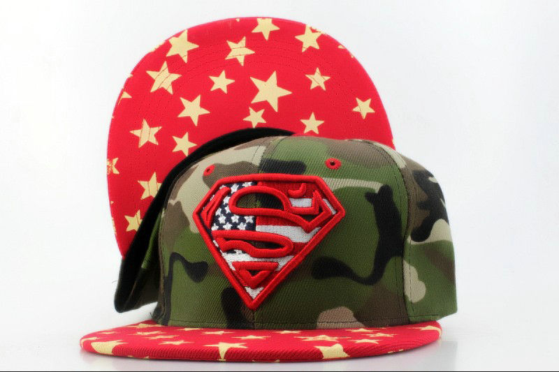 Super Man Camo Snapback Hat QH 1 0701