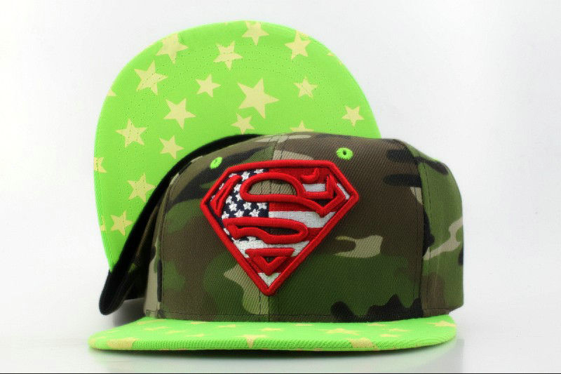 Super Man Camo Snapback Hat QH 2 0701