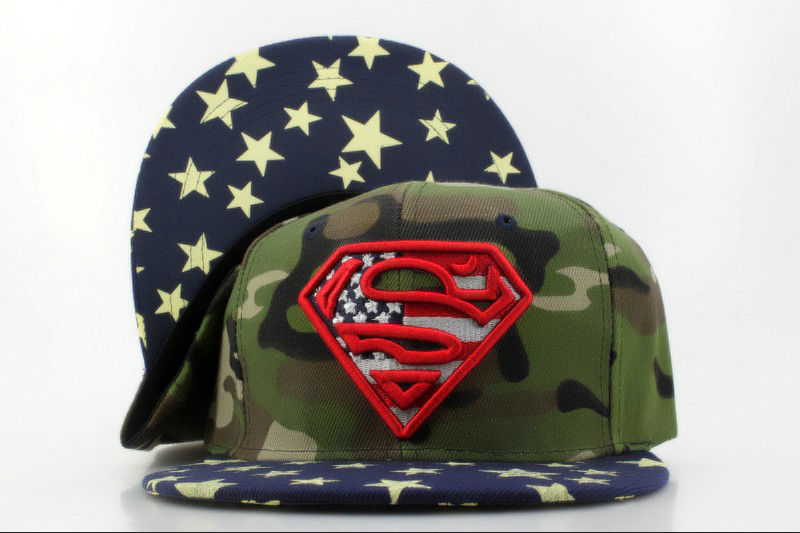 Super Man Camo Snapback Hat QH 0701