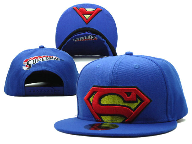 Super Man Blue Snapback Hat SF 0613