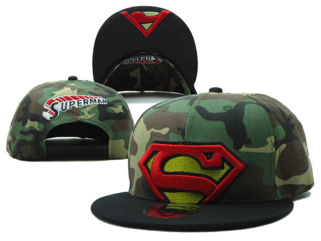 Super Man Camo Snapback Hat SF 0613