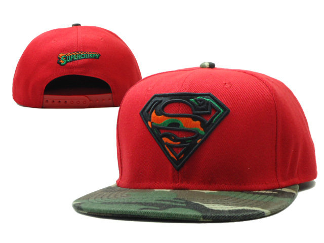 Super Man Red Snapback Hat SF 0613