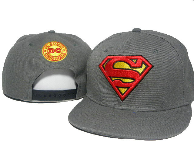 Super Man Grey Snapback Hat DD 0512