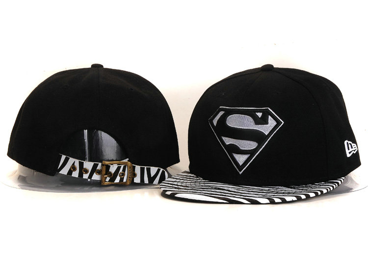 Super Man Black Snapback Hat YS